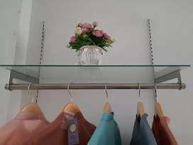 22 pcs Daun breket pipa size 25 cm display baju butik