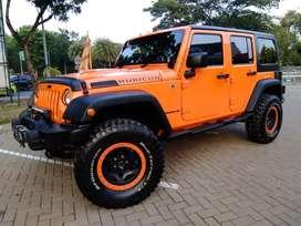 Jeep Rubicon Bagus Bintaro - 2013 - Full Modif - Orange On Black