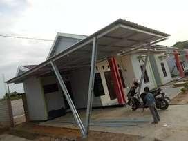 Pemasangan atap kanopi bajaringan