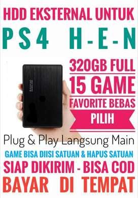 HDD 320GB FULL 15Game Terlaris PS4 Terjangkau Murah Meriah Bebas Pilih