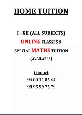 HOME tuition and ONLINE tuition.