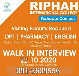 Visiting Faculty Required