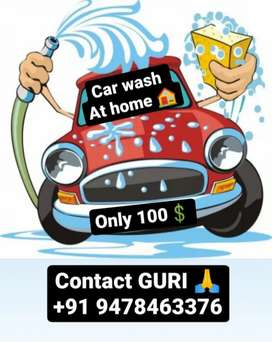 Car wash at home  only in 100