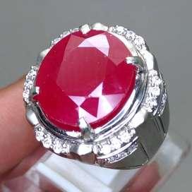 Batu Permata Ruby Merah Delima Asli