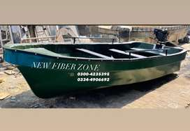 Fiberglass 13ft Boat with 5 hp petter engine (new)