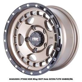 velg mobil murah MAHAWA JT1552 HSR R15X7 H5X139,7 ET0 SMBRZ/BL