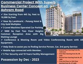 1243 Feet | 3rd Floor Space for Sale on Ashram Road