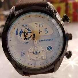 Jam tangan gratis dompet kulit asli