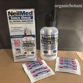 Neilmed Sinus Rinse,LENGKAP 1 Botol+10 Premixed Sachet. RECOMMENDED.