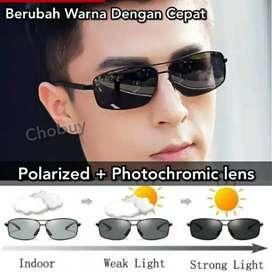 Kacamata original polarized photocromik bisa berubah warna anti silau