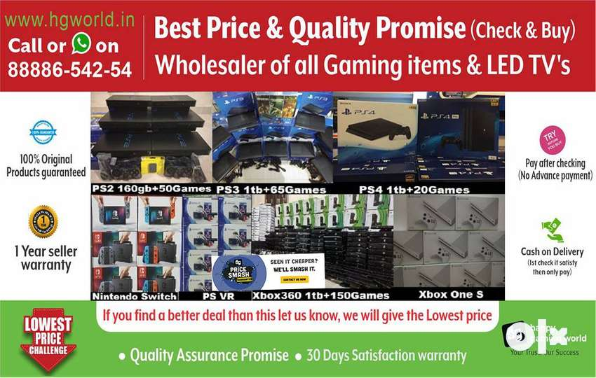 Gaming Consoles PS4,PS3,PS2,XBOX1/360/X/S,Nintendo& LED TVs Unbeatable 0