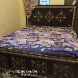 Double size bed with 10 inches spring matress
