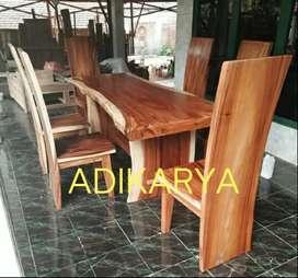 Meja makan kursi 6  #blok kayu terambesi suar .