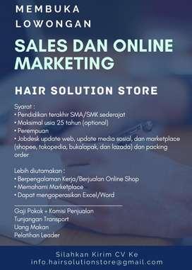 Lowongan Dicari Sales Online Marketing Siap Kerja