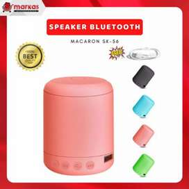 Speaker Mini Bluetooth SK-56 Macaron Portable Warna Pastel