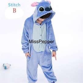 onesie costume cosplay Stitch kid  kostum piyama stitch anak