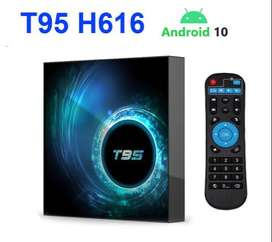 Original product T95 6KUHD android 10 smart android tv box with warant