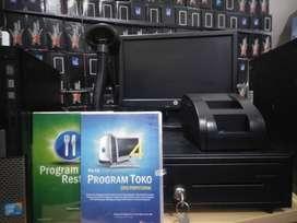 Komputer TOKO buat kasir Lengkap dengan IPOS system utk Swalayan DLL