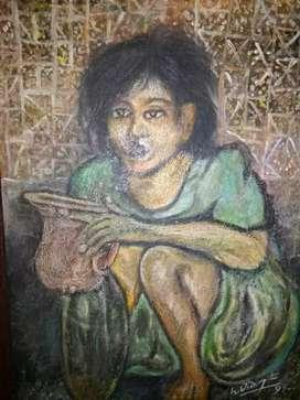 Lukisan H Widayat 95 seperti di foto