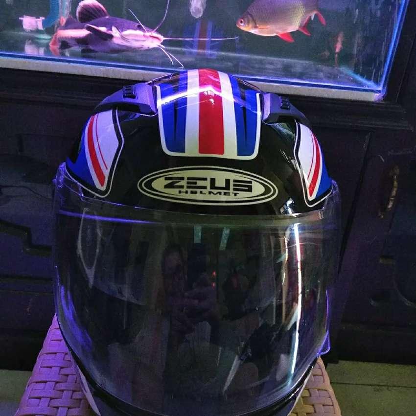 Helm ZEUS ZS- 813 an5 blue double visor 0