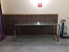 02 Stainless Steel tables 2.5 x 7 feet