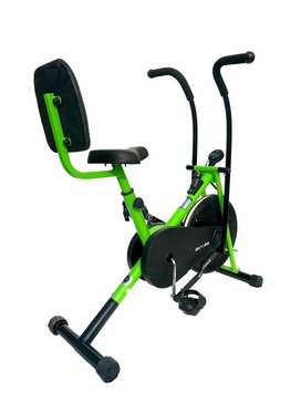 Home gym cycle with back rest