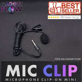 Microphone Mic Clip on Mic 3.5mm For Smartphone PC