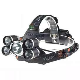 TaffLED Headlamp Cree XM-L 1T6+4XPE 16000 Lumens - LDL5T - Black