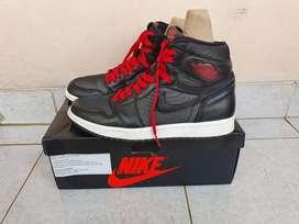 Nike Air Jordan 1 High Satin Black Original