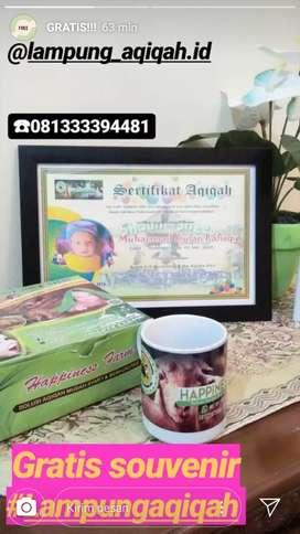 Super Aqiqah, Lampung Aqiqah Gratis Masak Plus Sertifikat dan Mug
