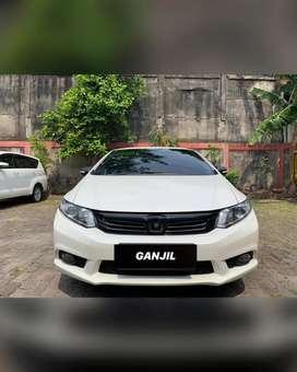 Honda Civic 2.0 AT 2013 White! RARE!! VELG ORI ADA!!