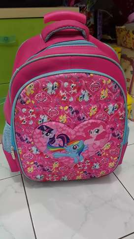 Jual preloved tas sekolah trolley little pony