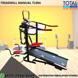 Treadmill manual 6in1 Fungsi TL004 I Alat Fitness multifungsi