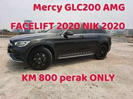 Mercy GLC200 AMG FACELIFT 2020 NIK 2020 Black on Black KM 800 (only)