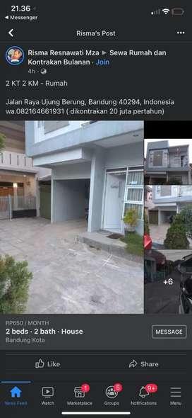 Rumah dikontrakkan pertahun Bandung kota nego