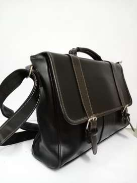 Imported Leather Sachel office / casual bag  for men. ( Free Delivery)