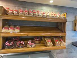 Wooden Racks (2 units) for Bread and Confectionery