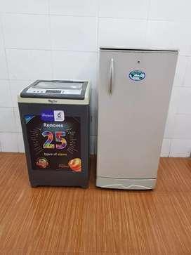 LG Single Door Fridge  Whirlpool Washing machine With door delivery