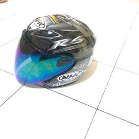 Helm NHK R6 Grey Motif Kaca Pelangi size M