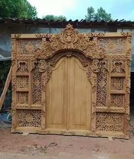 Gebyok Bali kayu jati ready stok
