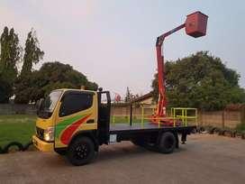 Truk crane skylift.canter ps 125 HD.mobil lampu jalan