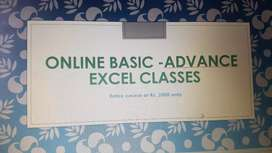 Online basic - advance excel classes