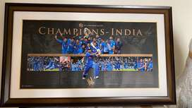 MS Dhoni signed lithograph purcahsed from ICC auction