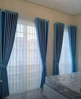 Tirai /kerai/vitrase/gorden/roll blinds siap produksi