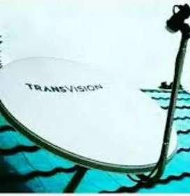 Promo pasang murah Transvision HD rsmi kota Tomohon promo 6 bulan 420k