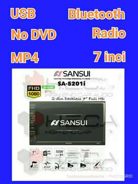 7 in Tv mobil sansui YouTube no dvd usb gps mp4 for paket sound audio