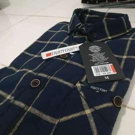 Kemaja bahan flannel wol berkualitas