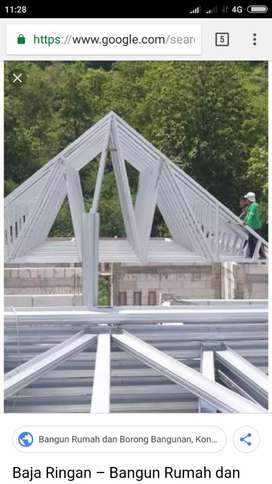 Pemasangan kanopi Las dan baja ringan pagar