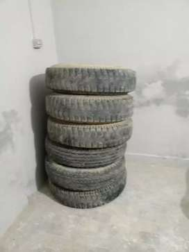 3 pair of brand used tyres 7 50 for sale