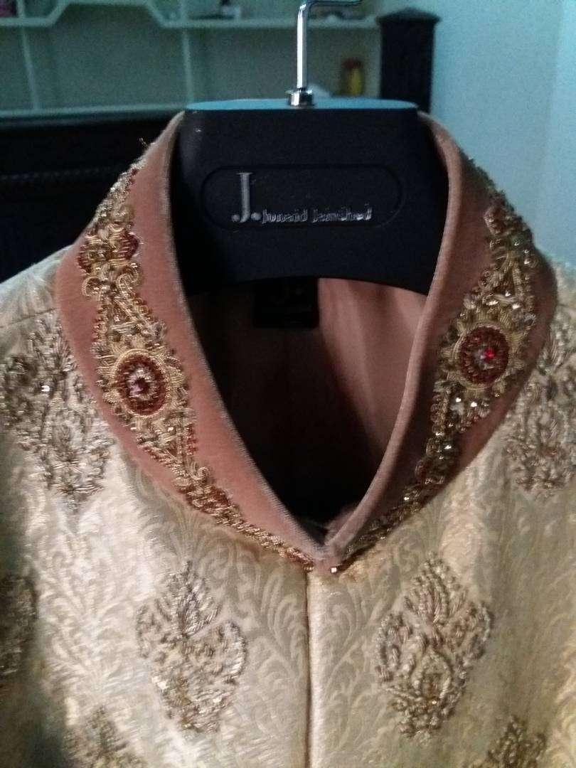 J. sherwani golden colour 0